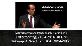 Montagsdemo Berlin Andreas Popp Ostermontag 2014