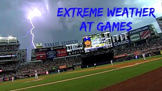 MLB Crazy Weather