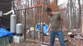 Framing The Walls Of My Off Grid Battery Storage Shed