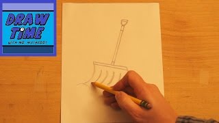 How to Draw a Snow Shovel