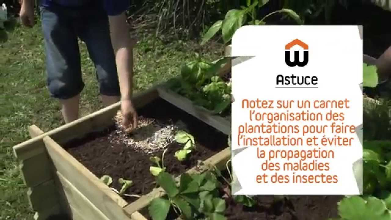 cr er un potager en carr youtube. Black Bedroom Furniture Sets. Home Design Ideas