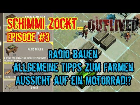 Episode #3 - Radio bauen - allgemeine Tipps zum Farmen - The Outlived (deutsch)