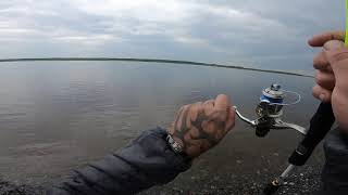 Рыбалка на н.Тунгуске,погода прогнала..