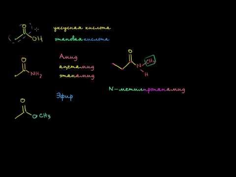 Амиды, ангидриды, эфиры и ацилхлориды