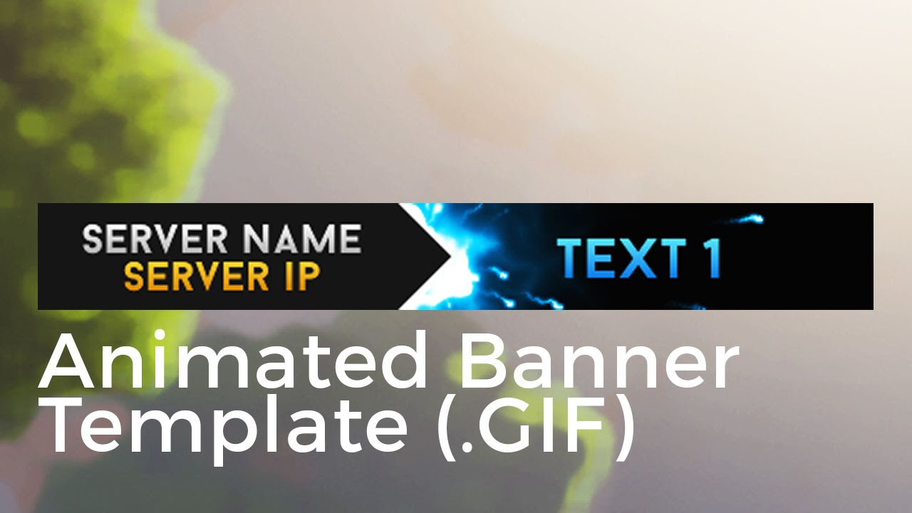 Minecraft Animated Server Banner Template \