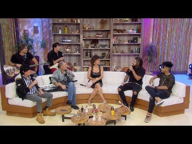 Faa Morena conversa com ex-participantes de reality show