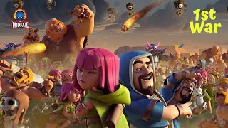 COC WAR 20 vs 20 | Funny Game Play | MidFail-YT 🔴 Live Stream