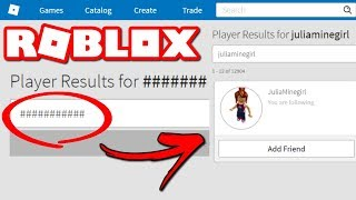 HOW TO FIND A NAME ON ROBLOX THAT GIVES HASHTAG ####