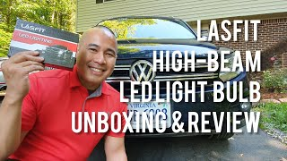 VW/Volkswagen Tiguan High Beam LASFIT LED Unboxing, Review & How to Install Instructions