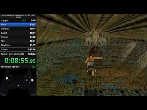 Tomb Raider 3 any% glitched in 1:10:33
