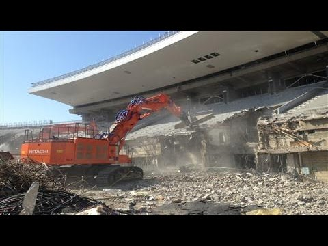 Demolition of National Stadium in Tokyo