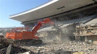 Demolition of National Stadium in Tokyo