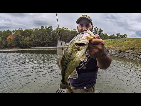 Fall Bass Fishing (Power Fishing with the Nasty's Thumper!!!) Vibrating Jig