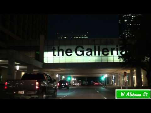 Uptown Houston, Texas At Night