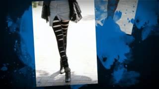 Модные черные лосины