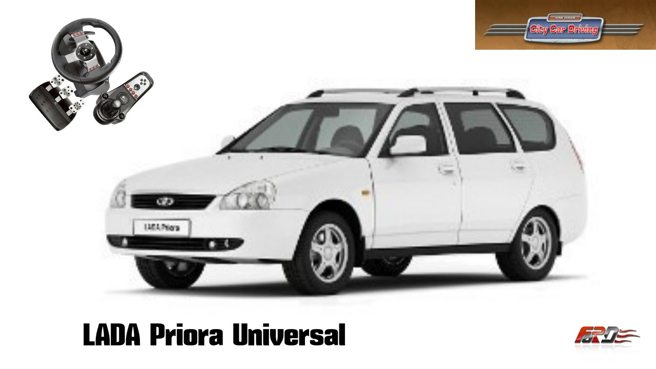 LADA Priora универсал (ВАЗ 2171)   тест драйв, обзор, разгон, русский универсал City Car Driving