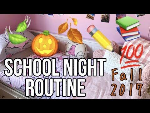 REAL School Night Routine - FALL 2017 🍂📚🎃