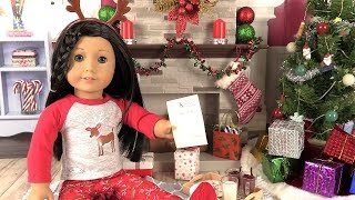 American Girl Christmas Morning Routine - Noël Chambre de Poupée