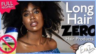Grow LONG Hair w/ ZERO Store-bought Hair Products (Full Regimen Long 4a/4b) | Natural Hair