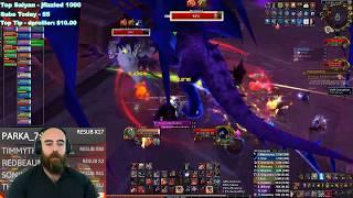 MYTHIC VEXIONA: 474 Fury Warrior (89K DPS) - WoW BFA 8.3 Mythic Ny'alotha Raid Boss (7/12)