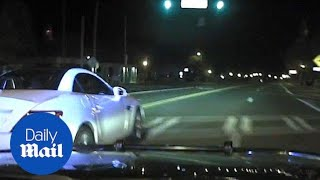 Dash cam video shows police chase at over 143 mph - Daily Mail