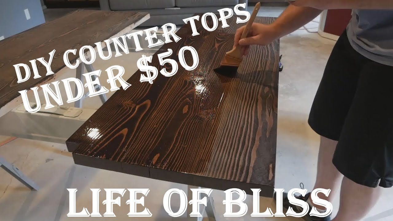Diy Solid Wood Countertops For Under