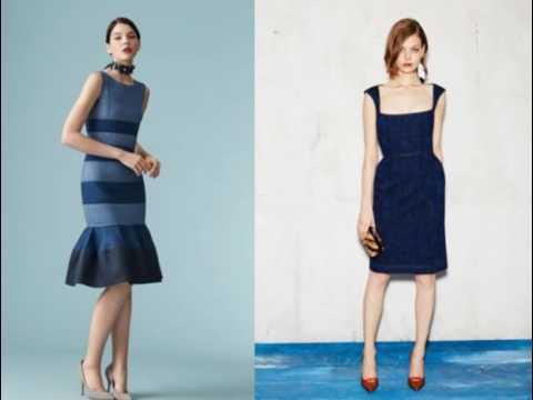 Модные джинсовые платья 2017
