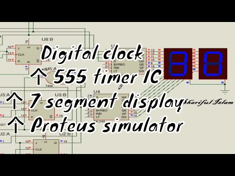 digital clock using 555 ic and 7 segment display youtube rh youtube com seven segment clock circuit diagram 7 segment digital clock circuit diagram