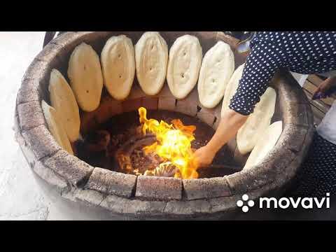 Хлеб в тандыре село Ташкапур