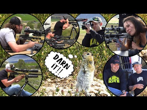 Ground Squirrel Hunting At 250+ YARDS With Airgunning Legends!