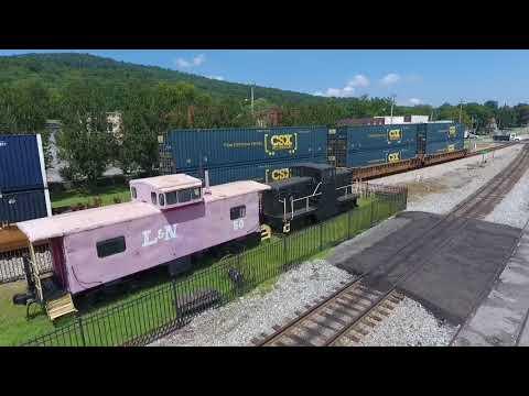 NS and CSX Trains at Paint Rock River and Stevenson AL