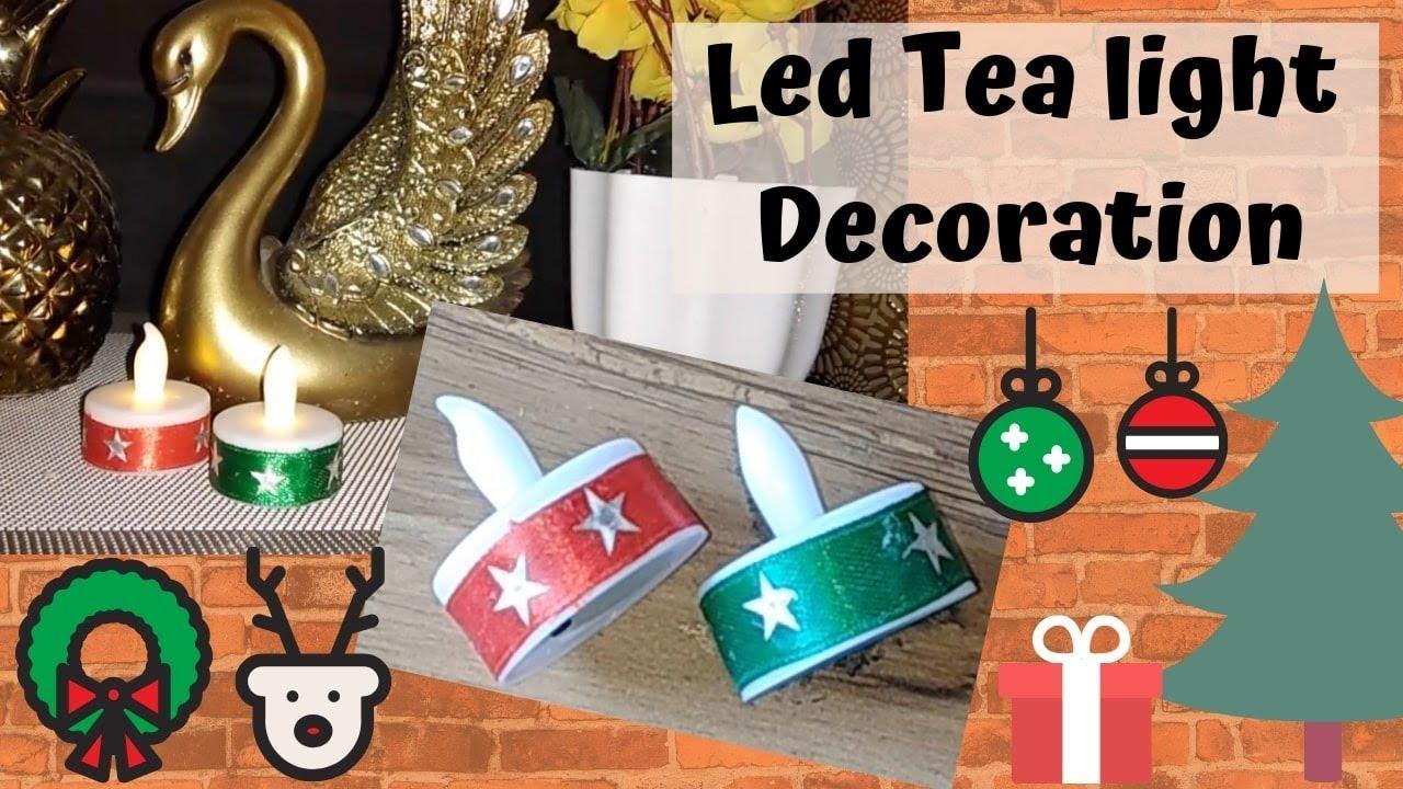 Christmas Tea Light Decorations Christmas Craft Ideas Easy To Make