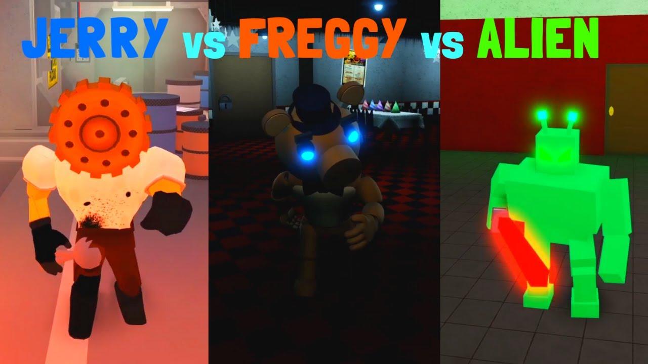 JERRY vs FREGGY vs ALIEN ROBLOX 로블록스 제리 vs 프레기 vs 에일리언