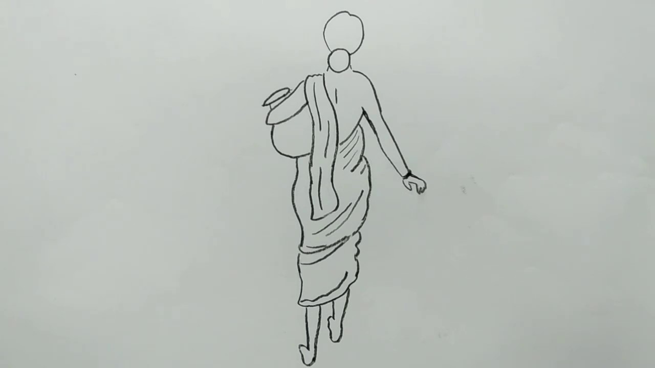 Village girl drawing