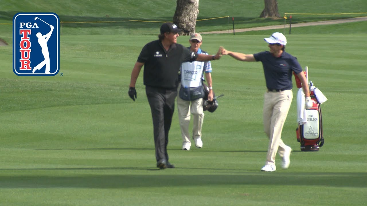 Top hole-outs with backspin on the PGA TOUR