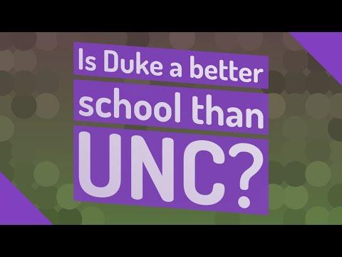 Is Duke a better school than UNC?