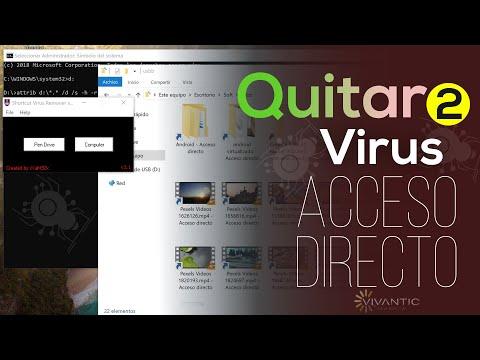 2 Formas: Eliminar Virus Acceso Directo En Memoria USB Y PC | 2019