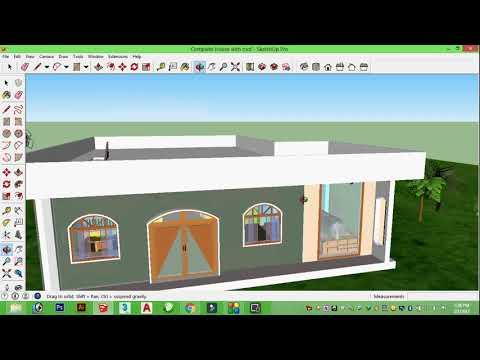 Modern House How its build स्केचअप  सीखें हिंदी में।