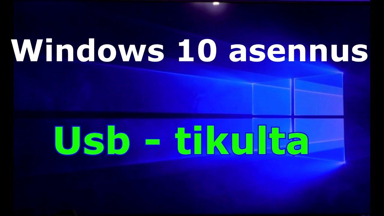 Windows 10 Puhdas Asennus