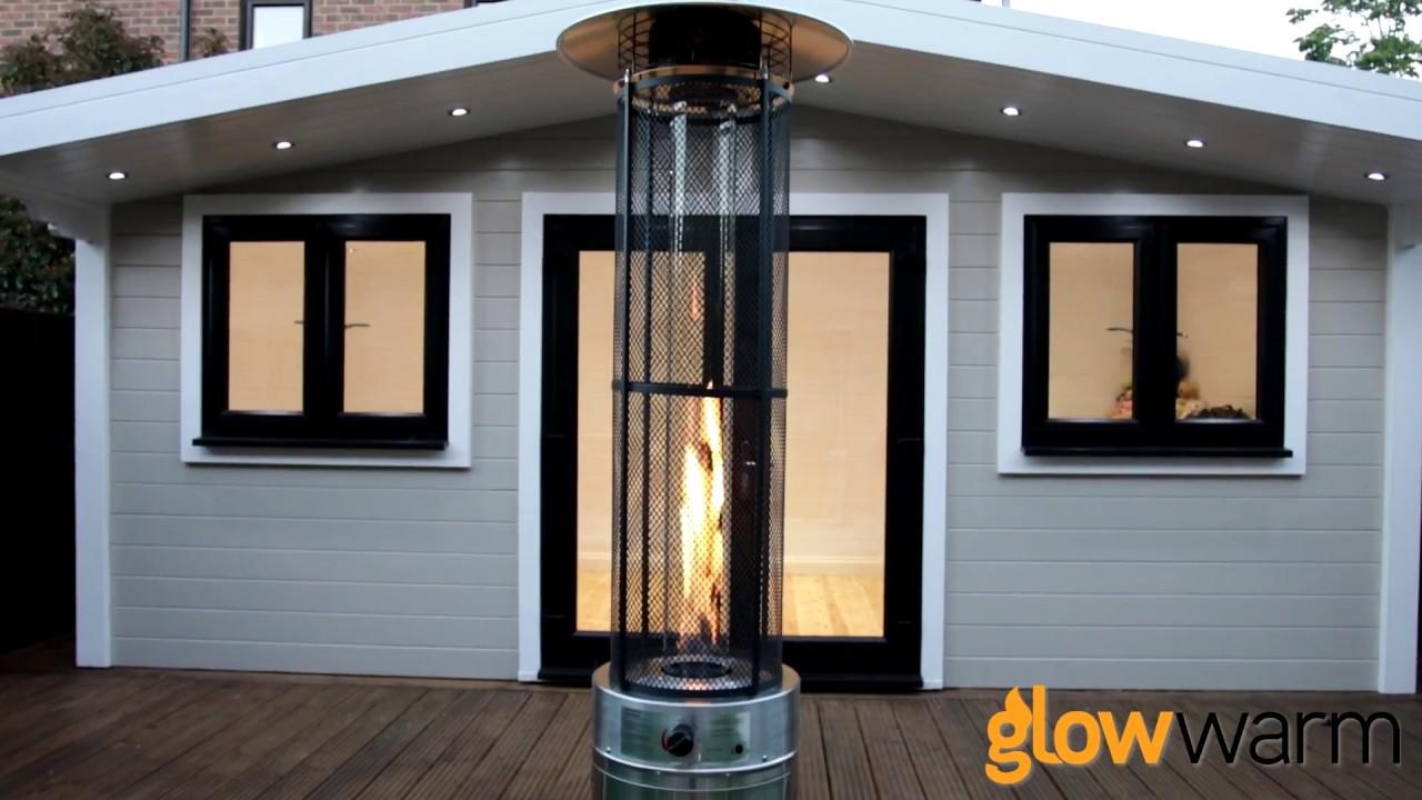 Glow Warm 15kw Flame Patio Heater   BBQ Gas London