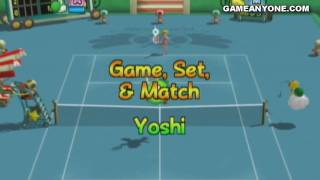 New Play Control! Mario Power Tennis walkthrough - Mushroom Cup