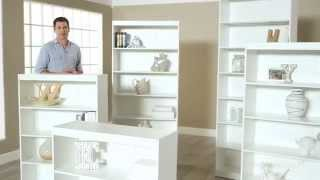 Finley Home Remmington Heavy Duty Bookcase - White - Product Review Video