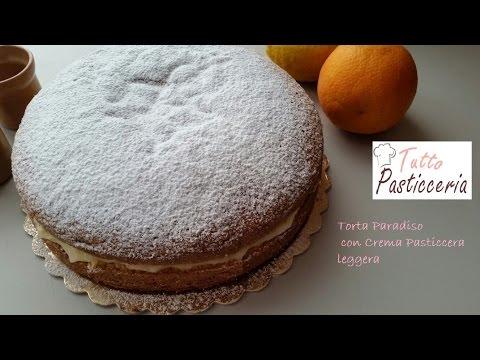 Torta paradiso con crema pasticcera leggera