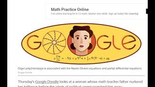 Google Doodle celebrates mathematician Olga Ladyzhenskaya