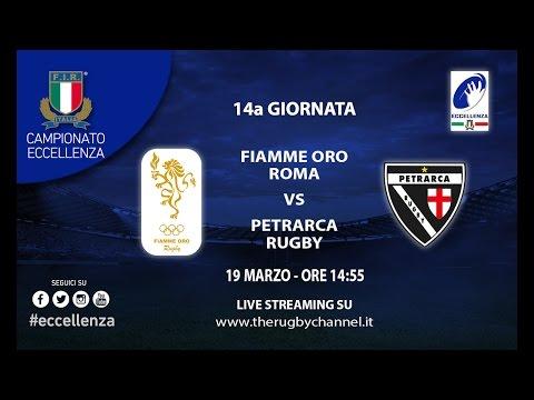 Fiamme Oro Roma vs Petrarca Rugby  - 14a Giornata Eccellenza Rugby 2016/17