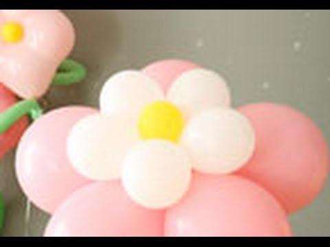 Como Hacer Una Flor Con Globos De Colores Youtube - Como-hacer-flores-de-globos
