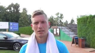 Štěpán Rinko po prohře ve 2. kole kvalifikace na turnaji Futures v Pardubicích