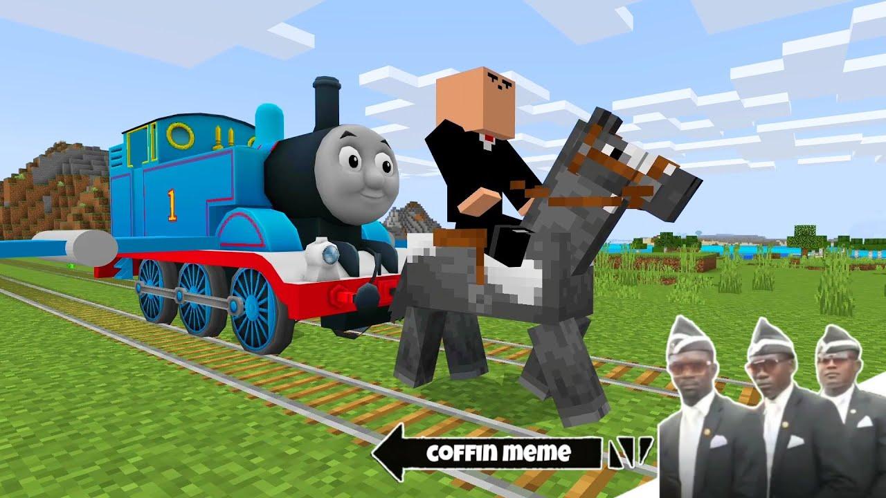 The Airplane Thomas Tank Engine in Minecraft - Coffin Meme