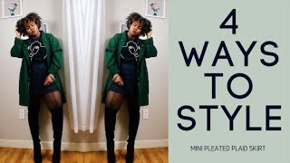 How to Style a Pleated Skirt 4-Ways!!!