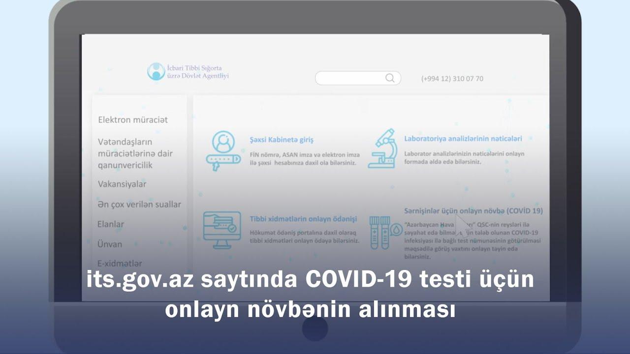 COVID-19 testi üçün onlayn növbənin alınması - Video təlimat